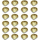 LotusFeet Spirituality Traditional Brass Karthigai Agal/Traditional Puja Diya/Pooja Item - Set Of Twenty Four Diya Lamp With 48 Cotton Wicks(Thiri) , 200ml Oil …