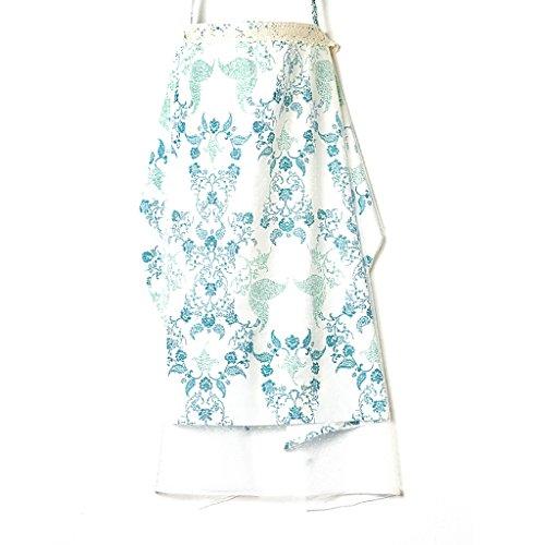 JLRQY Stillen Abdeckung Mit Verstellbarem Gurt 100% Baumwolle Net Yarn Boned Nursing Cover 70X110cm Atmungsaktiv Leicht,A