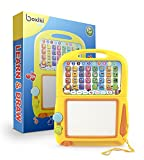 Boxiki Kids Tablet di apprendimento della Lingua Inglese + Lavagna Magnetica Educational Toy per Lo Sviluppo della Prima Infanzia. con Numeri, Alfabeto, Giochi di ortografia e Canzoni Musicali