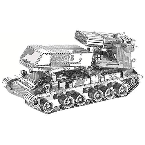 Multi-Barrel Raketenwerfer 3D Metall montiert Modul Spielzeug kreative Modell DIY 3D Laser geschnittene Puzzle Spielzeug Geschenk / Silber + Werkzeug A + B / eine Größe 2-modul-back-box