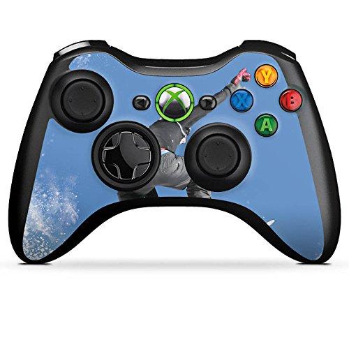 DeinDesign Microsoft Xbox 360 Controller Folie Skin Sticker aus Vinyl-Folie Aufkleber Snowboard Sprung Wintersport