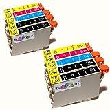 Kombi Pack 10x Standard Epson Tintenpatronen T611 - T614, kompatibel für Epson Stylus DX3800, 3850, 4200, 4250, 4800, 4850 Test