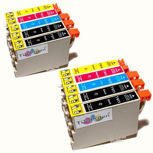 epson stylus dx4200 Kombi Pack 10x Standard Epson Tintenpatronen T611 - T614, kompatibel für Epson Stylus DX3800, 3850, 4200, 4250, 4800, 4850