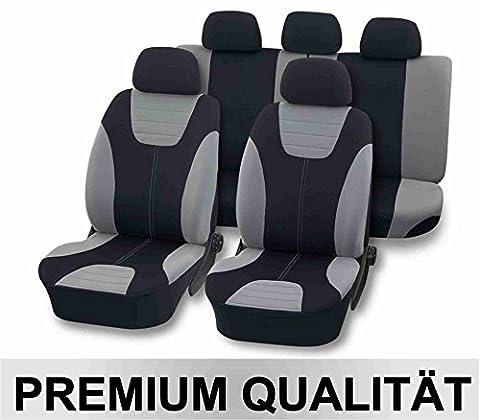Universal Schonbezug Sitzbezug DELUXE silber für VW Golf V 5 Plus, Golf VI 6, Golf VI 6 Plus, Jetta