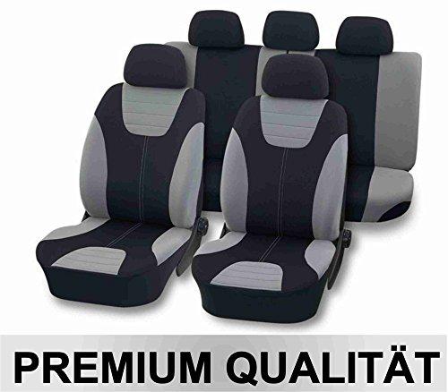 Deluxe Stoff (Universal Schonbezug Sitzbezug DELUXE silber)