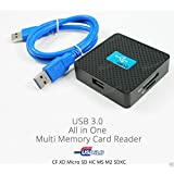Neon USB 3.0 Super Speed All in one (Multi) Memory Card Reader for SDXC SDHC, SD, MS, M2, Micro SDXC, Micro SDHC, Micro SD cards