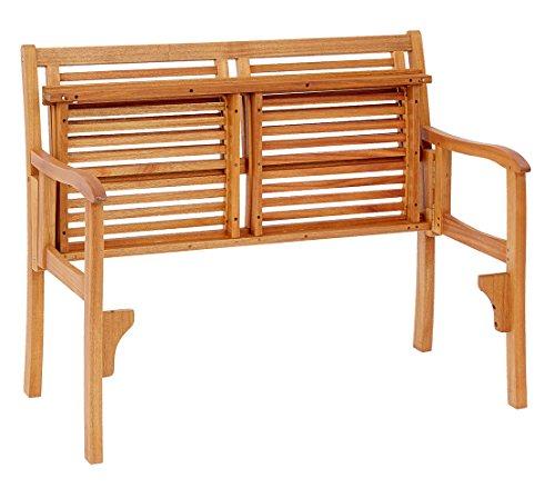 Dehner Klappbank Douglas, 2-Sitzer, ca. 119 x 62 x 90 cm, FSC Akazienholz, geölt, natur - 2
