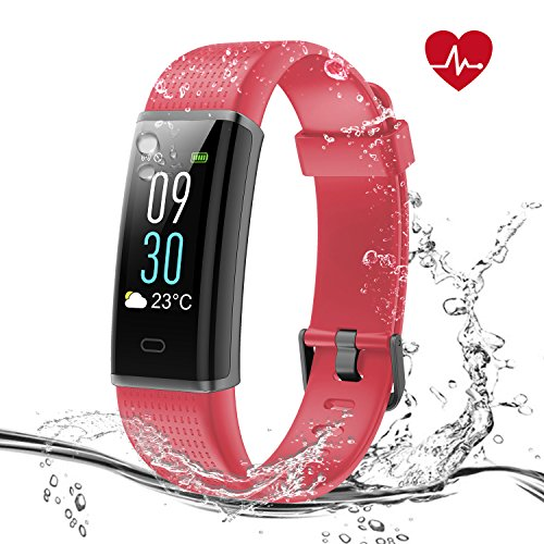 Syncwire Fitness Tracker [Farbiges Anzeigedesign] PolyFit Fitness-Tracker