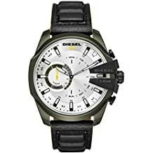 83f97faea593 Diesel Reloj Analogico para Hombre de Cuarzo con Correa en Cuero DZT1012