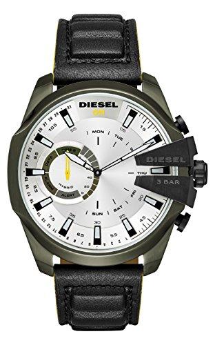 Diesel Herren Analog Quarz Uhr mit Leder Armband DZT1012