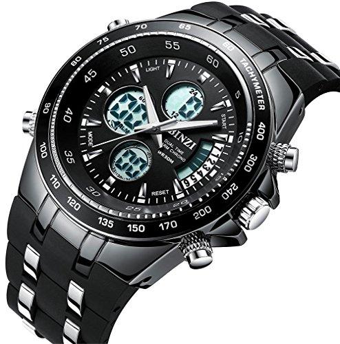 8fa1b234ffbb BINZI Hombre reloj de pulsera Relojes deportivos digital Reloj de cuarzo  Reloj de lujo LED de