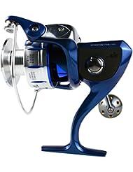 XIYUE Carrete de Aluminio de Pesca Capacidades de Línea 0.35/200 0.45/160 (mm/m) Componente Acero Inoxidable Cuerpo de Aleacion Izquirda y Derecha Intercambiable Rodamiento de Bola 10 + 1 Fuerza Frenado 18kg Manija Plegable Negro XY5000