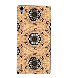 For Huawei Ascend P7 trust ( trust, good quotes, nice quotes, hand, cartoon ) Printed Designer Back Case Cover By TAKKLOO