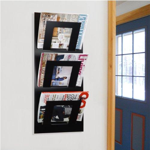 Black Wall Mounted Magazine News...