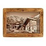 Bilderrahmen Alt-Holz Fichte Dezent aus Echtem, historischen Holz und Reiner Handarbeit – Alte Rahmen als Geschenk-Idee im Vintage-Stil rustikal (15 x 20)