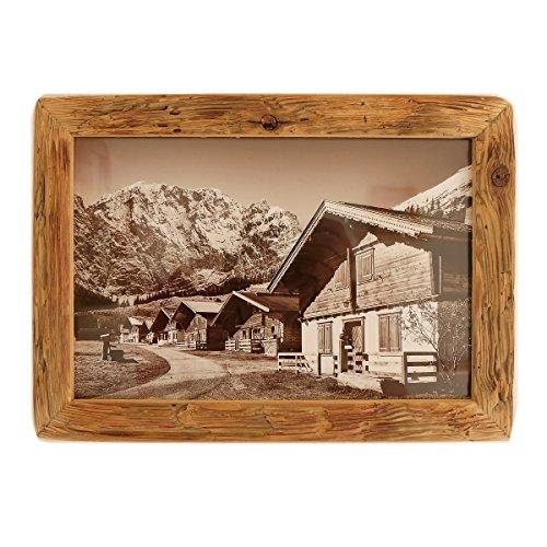 Bilderrahmen Alt-Holz Fichte Dezent aus Echtem, historischen Holz und Reiner Handarbeit – Alte Rahmen als Geschenk-Idee im Vintage-Stil rustikal (15 x 20) (Alter Von Holz Im)