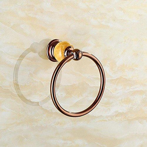 Anello di tovagliolo di giada giada oro rosa asciugamano anello in acciaio inox - Oro Giada Anello