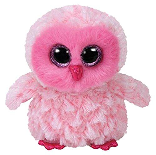 "Beanie Boo Owl - Pinky - Pink - 15cm 6"""