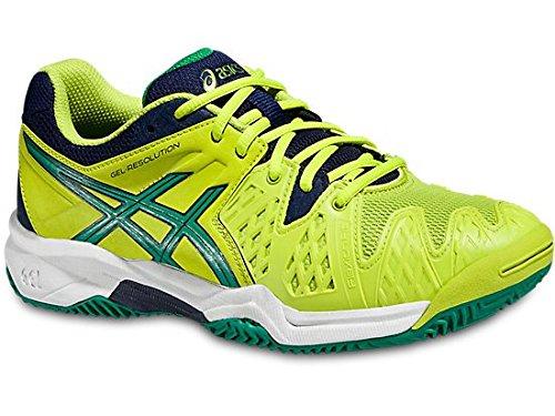 Asics Gel Resolution 6 Clay Gs Lime/Verde/Blu Scarpa tennis (ITA 35 US 3)
