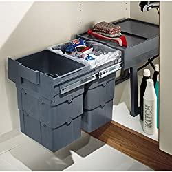 Multi Container WASTE BOY Pull Out Kitchen Cabinet Cupboard Bin 32L