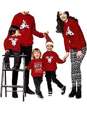 Riou Weihnachten Set Baby Kleidung Pullover Pyjama Outfits Set Familie Frohe Weihnachts kostüme Santa Junge Mädchen...