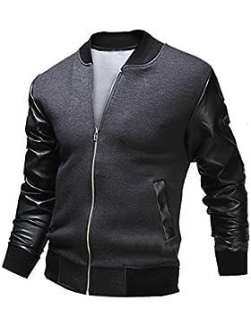 [Patrocinado]VENMO Moda Hombres Otoño Invierno Slim Cuello Chaquetas Casual Abrigo