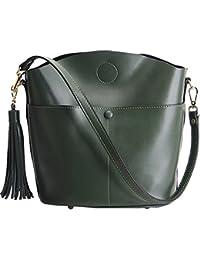 cc7db30bdede9 E-girl LF-M169 Damen Leder Handtaschen Elegantes Design Schultertaschen  Umhängetaschen