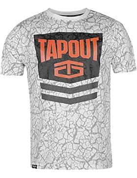 Tapout Hombre Chevron Camiseta Manga Corta Ropa Vestir Cuello Redondo Casual