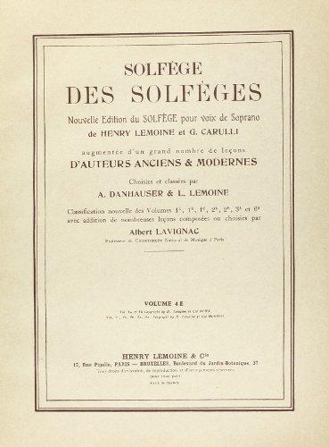 Solfège des Solfèges Volume 4E avec accompagnement
