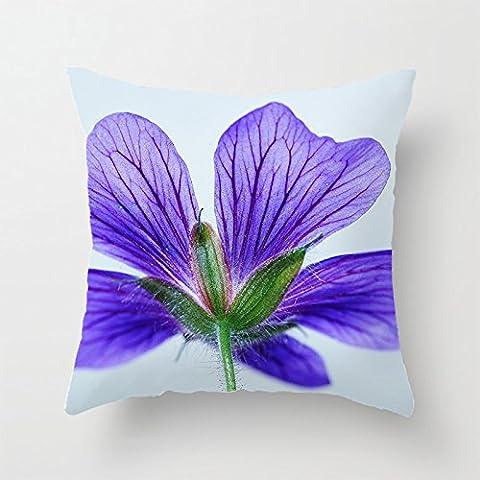 yinggouen Violet Fleur pour décorer un canapé taie d'oreiller housse coussin 45x 45cm