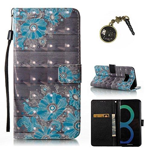 Preisvergleich Produktbild 3D Galaxy S8+ / S8 Plus Hülle, PU Leder Hülle für Ledertasche Schutzhülle Case[Stand Feature] Flip Case Cover Etui mit Karte Slots Hülle für Samsung Galaxy S8+ / S8 Plus (6,2 Zoll) +Staubstecker X1 (7)