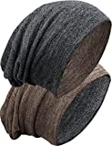 Grin&Bear unisex reversible lange slouch Beanie Mütze M80-3
