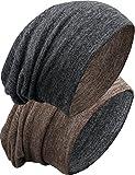 Grin&Bear Unisex Reversible (beidseitig tragbar) Lange Slouch Beanie Mütze M80-3