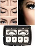Magnetico ciglia, wimern Set artificiale ciglia finte 3d widerverwendbare Magnetic False Eyelashes + edestal ciglia applicatore pinzette