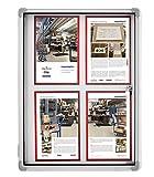 Dreams4Home Schaukasten 'Parla' für den Innenbereich, Infokasten, Aushang, abschließbar, magnetisch, 61 x 73 x 4 cm