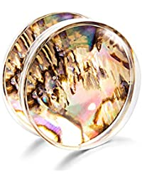 JUZIWEI 1 par Dilataciones Orejas Acrílico de Expansor de Túnel Hombre Mujer 8-20MM,