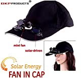 GKP Products ® Solar Power Air Fan Hat Peak Cap Sunhat for Outdoor Camping / Hiking / Cycling (Multi color)
