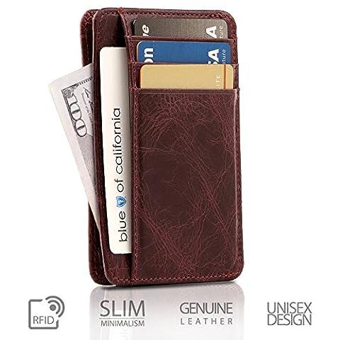 Otto Genuine Leather Wallet |Bank Cards, Money, RFID BLOCKING| - Unisex (Damson)