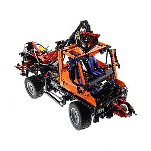 Preisvergleich Produktbild 1 x Lego Technic Set für Modell Construction 8110 Mercedes-Benz Unimog U 400 Pneumatic schwarz Technik Auto unvollständig