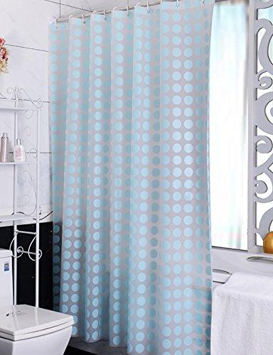 Cortinas de ducha de lujo Cortinas / cortinas impermeables del baño / aislamiento del baño Cortinas del baño / cortinas de la tetina del cuarto de baño / cortinas de ducha estándar Teal cortina de ducha ( Color : Azul , Tamaño : 200X240CM )