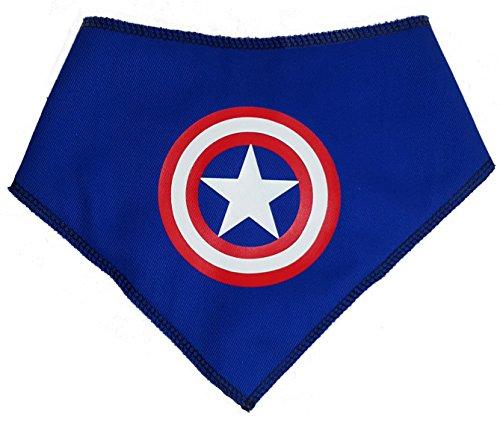 (Spoilt Rotten Pets (S2 Captain America Superhero Hund Bandana Reihe. Für Umhang Hunde Crusaders (Größe 2Small/Medium Dog–Passt 27,9cm-40,6cm Hals, Captain America))