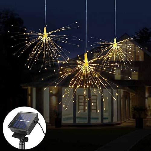 ZLRN DIY Feuerwerk Solar Lichterketten für Garten Dekoration Bouquet LED String Festliche Lichterketten Outdoor Solar Lampen -