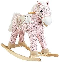 Milly Mally Pony Schaukelpferd Schaukelspielzeug mit Soundeffekten, Rosa