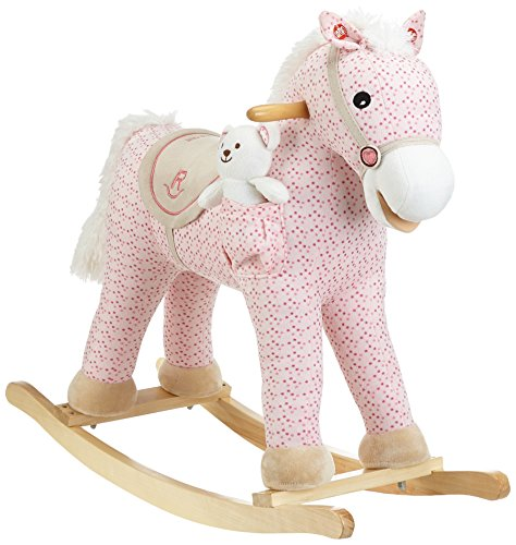 Milly Mally Pony Soft Rocking Horse with a Teddy Bear (Pink)