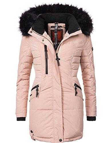 Rosa Winter-mantel-jacke (Navahoo Damen Mantel Wintermantel Steppmantel Eliya (vegan hergestellt) Rosa Gr. S)