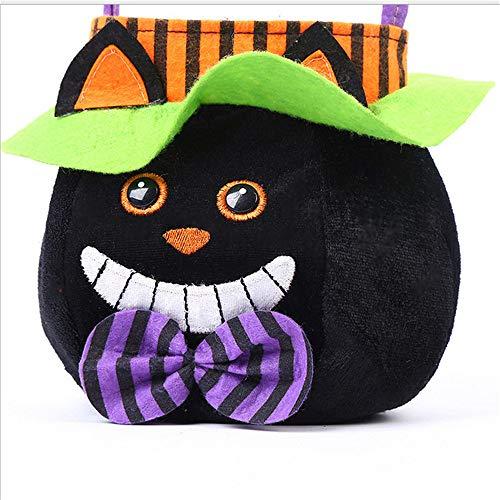 hysxm Halloween Requisiten Kinder Geschenke Süßigkeiten Taschen Halloween Party Make-up Kostüme Requisiten Stoff Schwarze Katze Einkaufstasche