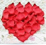 1000 Rose Blütenblätter Hochzeits Dekorationen - Heiss rot