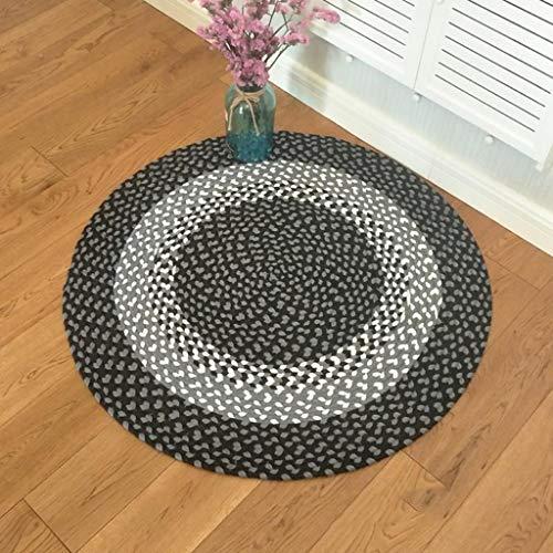 NBE Tappeto Tappeto Rotondo, Fatto a Mano in Cotone tappetini Rotondi tappetini Tappeti turchi ottomani(100 * 100 cm) (Dimensione : ROUND-100cm)