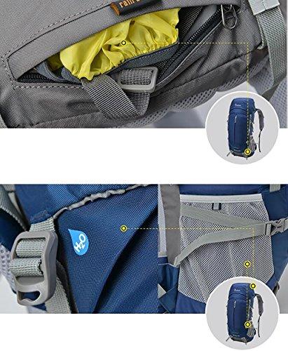 HWLXBB Outdoor Bergsteigen Tasche Männer und Frauen 45L + 5L Wasserdichte Mehrzweck-Bergsteigen Tasche Wandern Camping Bergsteigen Freizeit Rucksack Rucksack 1*