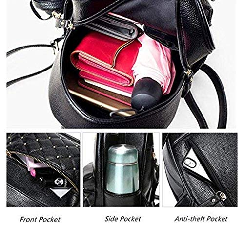 Alice Fashion Girls Bowknot 2-PCS Fashion Backpack Cute Mini Leather Backpack Purse for Women Image 6